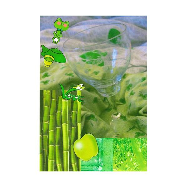 D 006 verre en vers verts